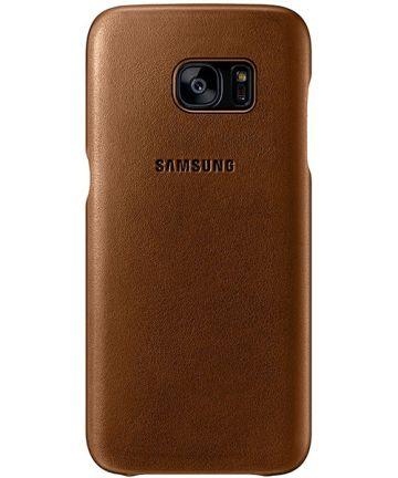 Samsung Galaxy S7 Edge Cover Bruin Origineel
