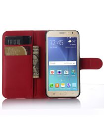 Samsung Galaxy J3 (2016) Portemonnee Hoesje Rood