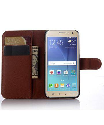 Samsung Galaxy J3 (2016) Portemonnee Hoesje Bruin