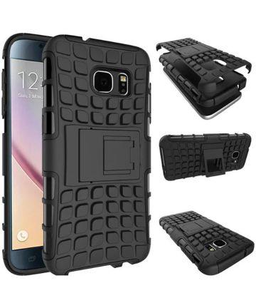 Samsung Galaxy S7 Hybrid Kickstand Hoesje Zwart