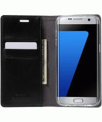 Mercury Portemonnee Flip Hoesje Samsung Galaxy S7 Edge Zwart