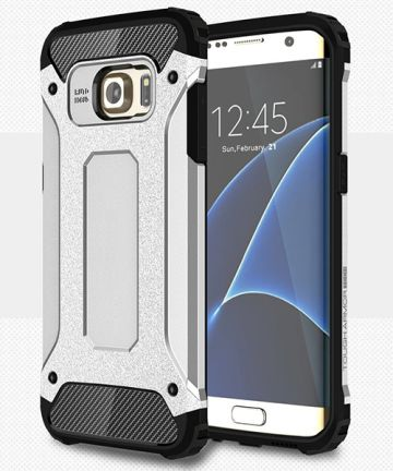 Samsung Galaxy S7 Edge Cool Armor Hoesje Zilver