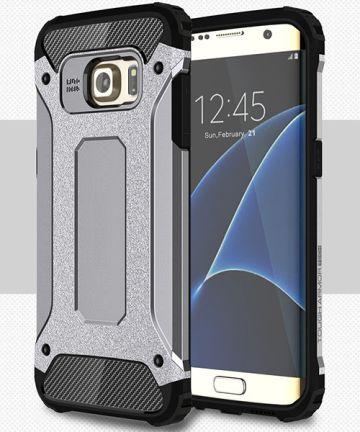 Samsung Galaxy S7 Edge Cool Armor Hoesje Grijs Hoesjes