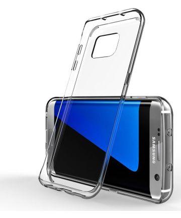 Samsung Galaxy S7 Edge Glanzend TPU Hoesje Transparant