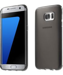 Samsung Galaxy S7 Edge Glanzend TPU Hoesje Grijs