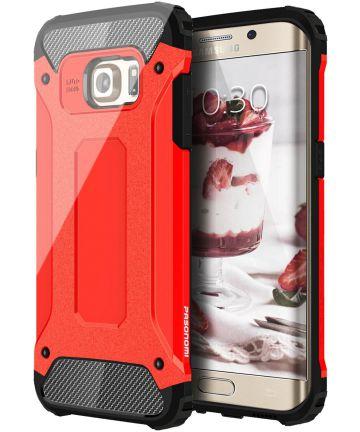 Samsung Galaxy S7 Edge Cool Armor Hoesje Rood Hoesjes