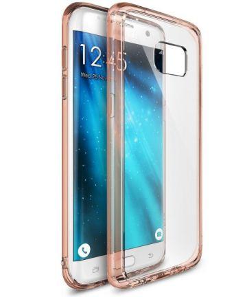 Ringke Fusion Samsung Galaxy S7 Edge hoesje doorzichtig Rose Gold
