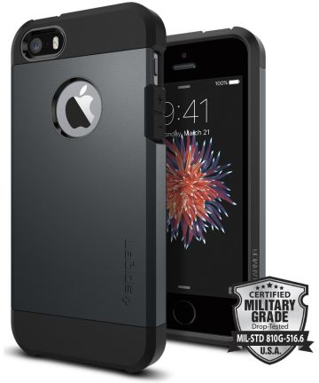 Spigen Tough Armor Hoesje iPhone SE Smooth Black