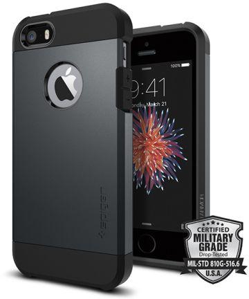 Spigen Tough Armor Hoesje iPhone SE Metal Slate