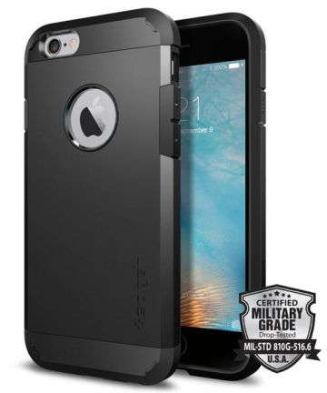 Spigen Tough Armor Hoesje iPhone 6s Black Hoesjes
