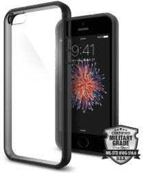 Spigen Ultra Hybrid Hoesje iPhone SE Smooth Black