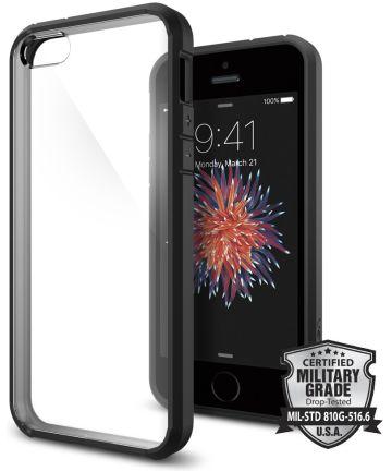 Spigen Ultra Hybrid Hoesje iPhone SE Smooth Black Hoesjes