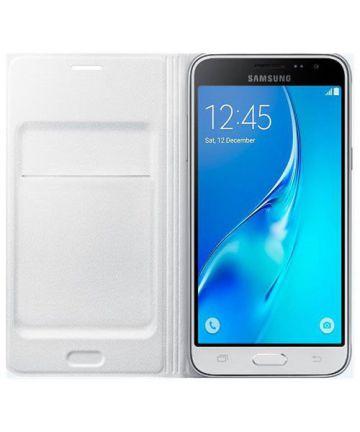 Samsung Galaxy J1 (2016) Wallet Case Wit Hoesjes