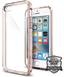 Spigen Ultra Hybrid Hoesje iPhone SE Rose Crystal