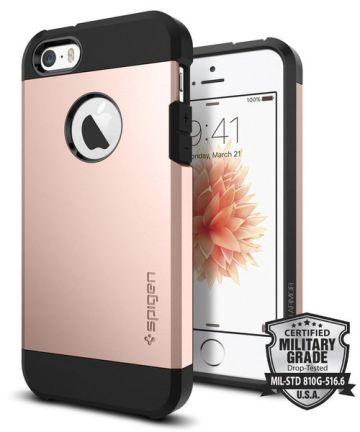 Spigen Tough Armor Hoesje iPhone SE Rose Gold
