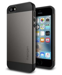 Spigen Slim Armor Hoesje iPhone SE Gunmetal