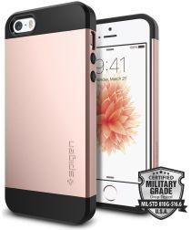 Spigen Slim Armor Hoesje iPhone SE Rose Gold