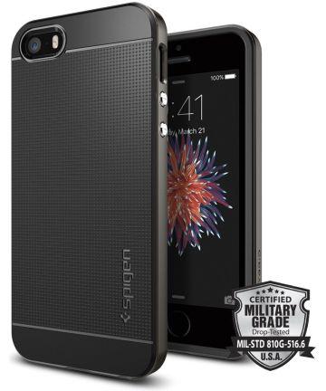 Spigen Neo Hybrid Hoesje iPhone SE Gunmetal