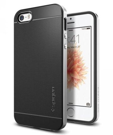 Spigen Neo Hybrid Hoesje iPhone SE Satin Silver
