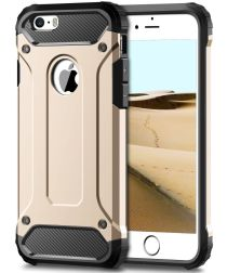 Apple iPhone 5/5S/SE Hoesje Shock Proof Hybride Back Cover Goud