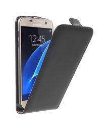 Samsung Galaxy S7 Flip Hoesje Verticaal Zwart
