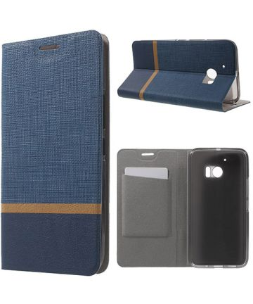 HTC 10 Hoesje Design Flip Case Blauw