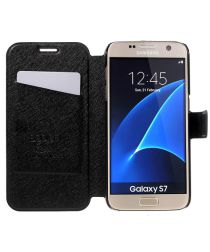 Samsung Galaxy S7 Business Portemonnee Bookcase Hoesje Zwart