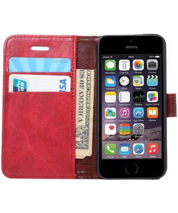 Apple iPhone SE / 5S / 5 Hoesje Portemonnee Rood