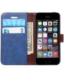 Apple iPhone SE / 5S / 5 Hoesje Portemonnee Donker Blauw