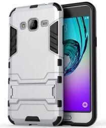 Samsung Galaxy J3 (2016) Hybrid Case Zilver