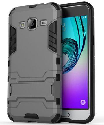 Samsung Galaxy J3 (2016) Hybrid Case Grijs Hoesjes