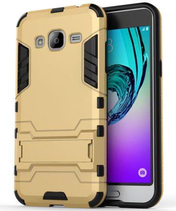 Samsung Galaxy J3 (2016) Hybrid Case Goud Hoesjes