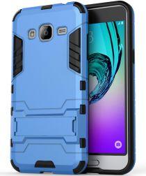 Samsung Galaxy J3 (2016) Hybrid Case Blauw