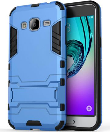 Samsung Galaxy J3 (2016) Hybrid Case Blauw Hoesjes