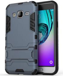 Samsung Galaxy J3 (2016) Hybrid Case Donker Blauw