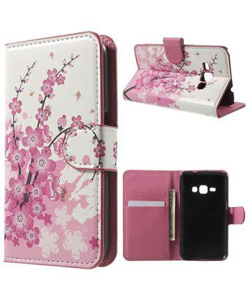 Samsung Galaxy J1 (2016) Flip Hoesje Plum Blossom