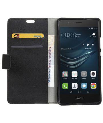 Huawei P9 Lite Wallet Cover Zwart