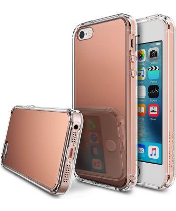 Ringke Fusion Mirror Apple iPhone SE spiegel hoesje Rose Gold
