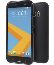 HTC 10 Hoesje TPU Back Cover Mat Zwart