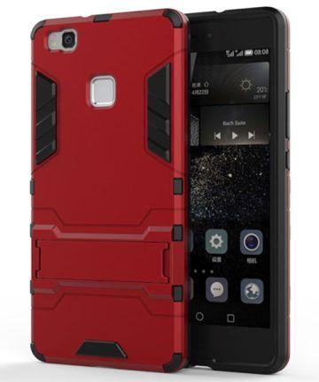 Hybride Huawei P9 Lite Hoesje Rood Hoesjes