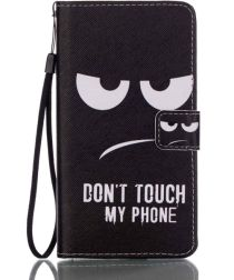 Samsung Galaxy J7 (2016) Portemonnee Hoesje Don't Touch My Phone Print