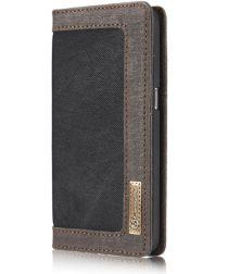 Samsung Galaxy S7 Canvas Portemonnee Bookcase Hoesje Zwart