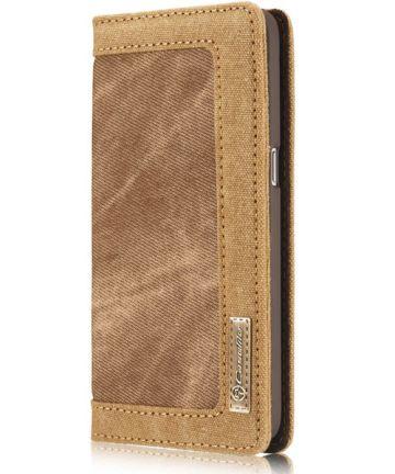 Samsung Galaxy S7 Canvas Portemonnee Bookcase Hoesje Bruin