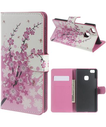Huawei P9 Lite Portemonnee Print Hoesje Blossom