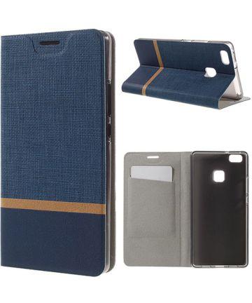 Huawei P9 Lite Hoesje Design Flip Case Blauw