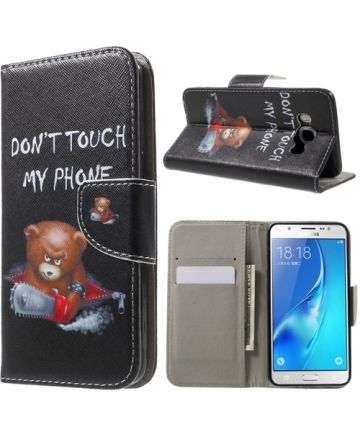 Samsung Galaxy J5 (2016) Fliphoesje Don't Touch My Phone Print Hoesjes