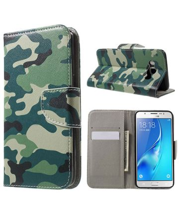 Samsung Galaxy J5 (2016) Camouflage Hoesje met Portemonnee Functie