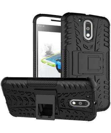 Hybride Motorola Moto G4 Hoesje Zwart