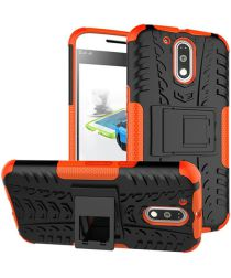 Hybride Motorola Moto G4 Hoesje Oranje