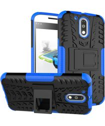 Hybride Motorola Moto G4 Hoesje Blauw
